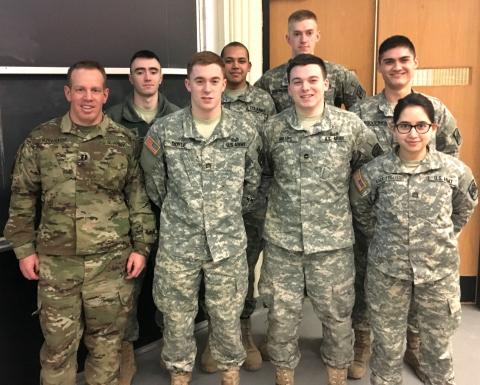 army rotc cadets at clarkson university have been chosen by a national board to participate in